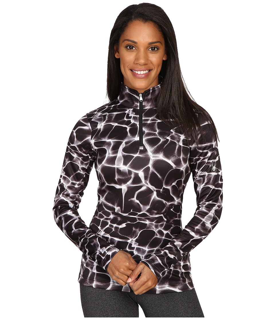 Spyder - Collection T-Neck Top (Waves Black Print) Women's Long Sleeve Pullover