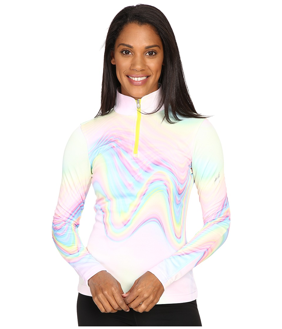 Spyder - Collection T-Neck Top (Holo Multi Print) Women's Long Sleeve Pullover