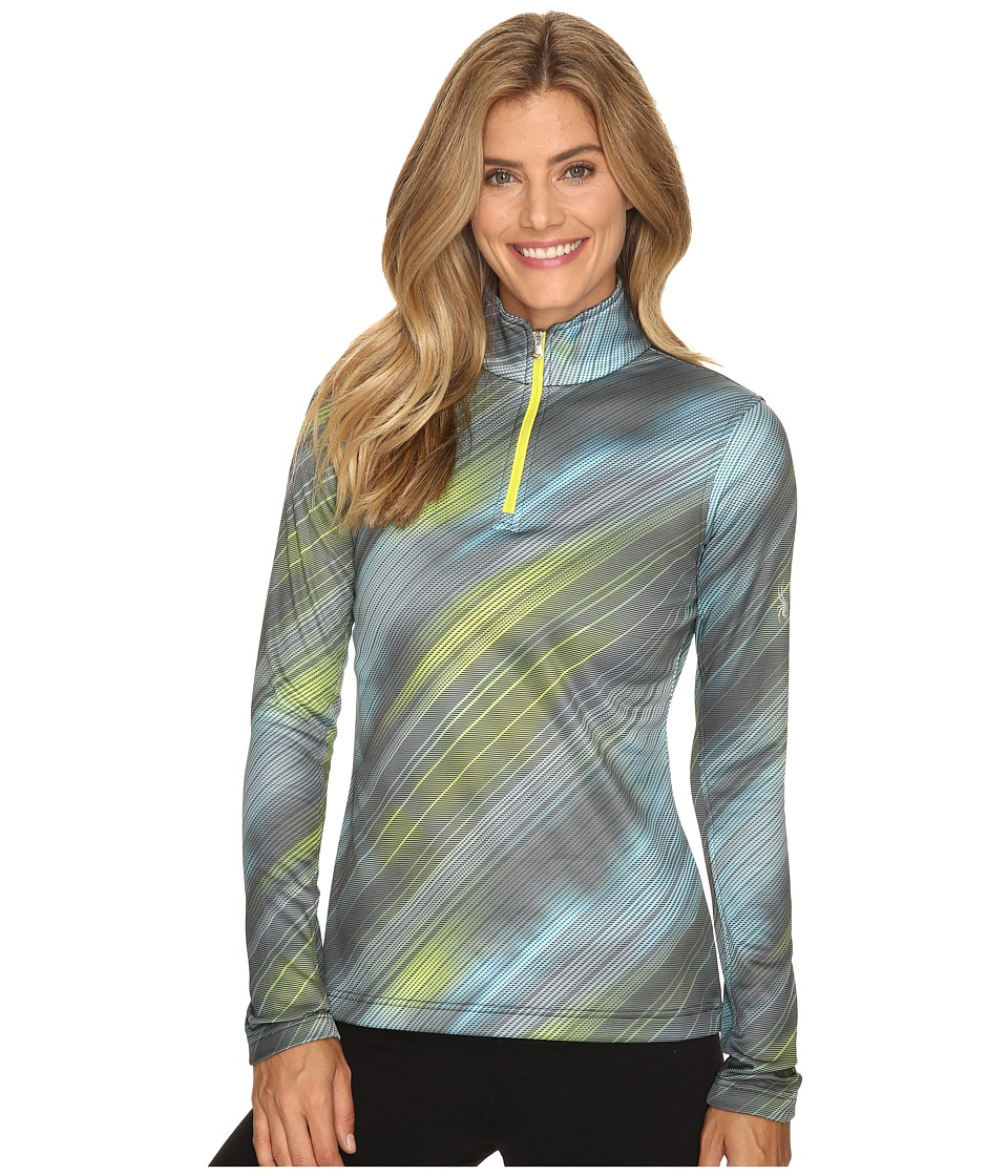 Spyder - Collection T-Neck Top (Geo Rays Acid Print) Women's Long Sleeve Pullover