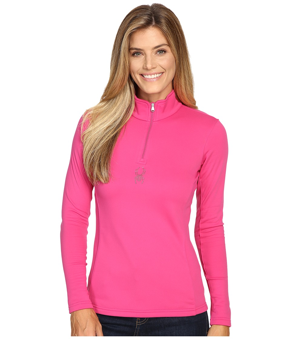 Spyder - Shimmer Bug Velour Fleece T-Neck Top (Voila) Women's Long Sleeve Pullover