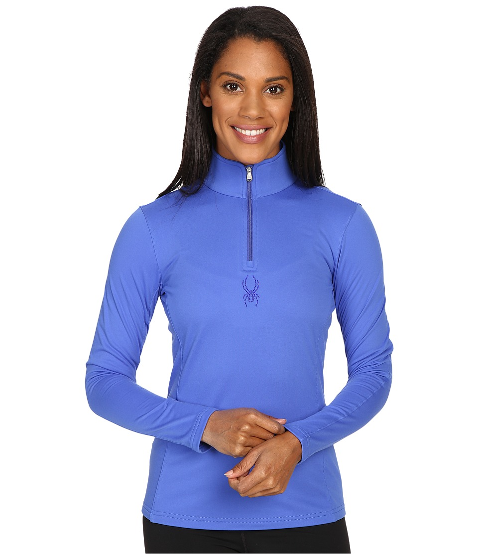 Spyder - Shimmer Bug Velour Fleece T-Neck Top (Bling) Women's Long Sleeve Pullover