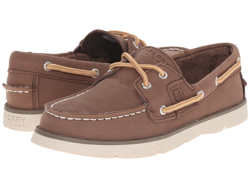 Sperry Kids - Leeward (Little Kid/Big Kid) (Dark Brown) Boy's Shoes