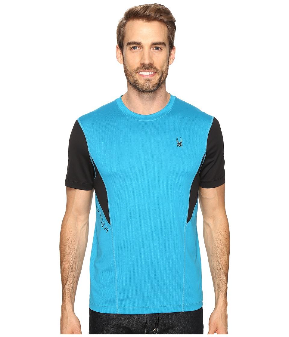 Spyder - Strabo Short Sleeve Shirt (Electric Blue/Black) Men's Short Sleeve Pullover