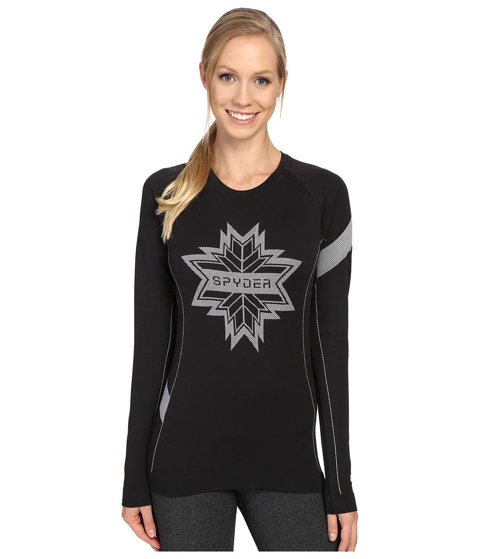 Spyder - Crest Top (Black/White) Women's Long Sleeve Pullover