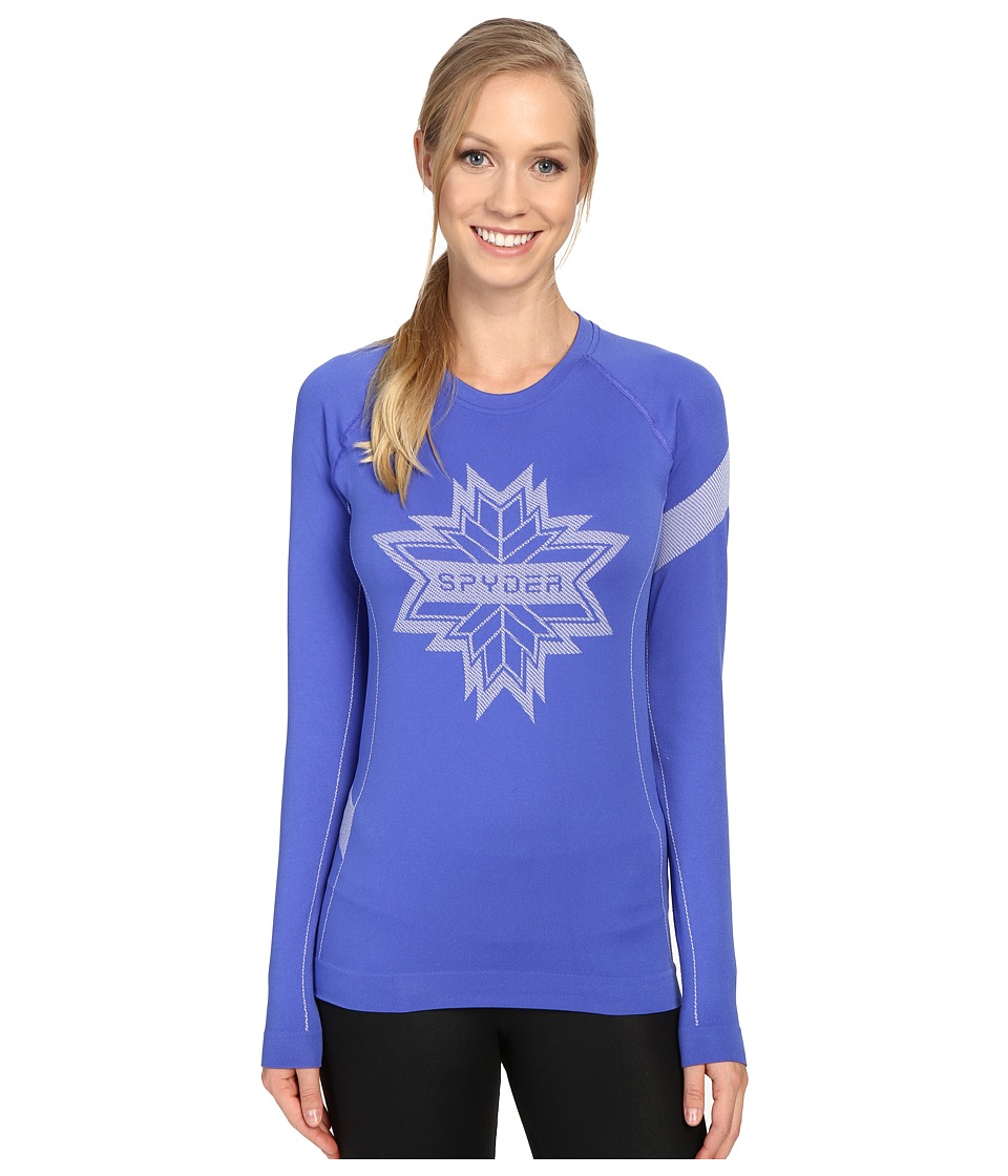 Spyder - Crest Top (Bling/White) Women's Long Sleeve Pullover