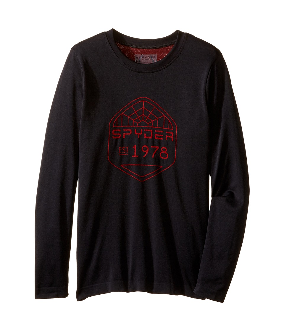 Spyder Kids - Crest Top (Big Kids) (Black/Red) Boy's Long Sleeve Pullover
