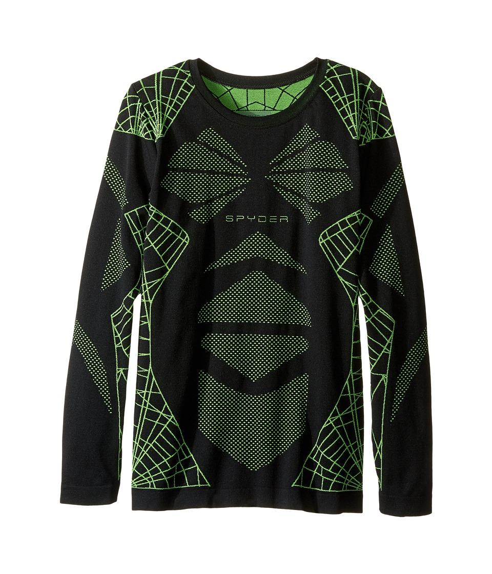 Spyder Kids - Racer Top (Big Kids) (Black/Bryte Green) Boy's Long Sleeve Pullover