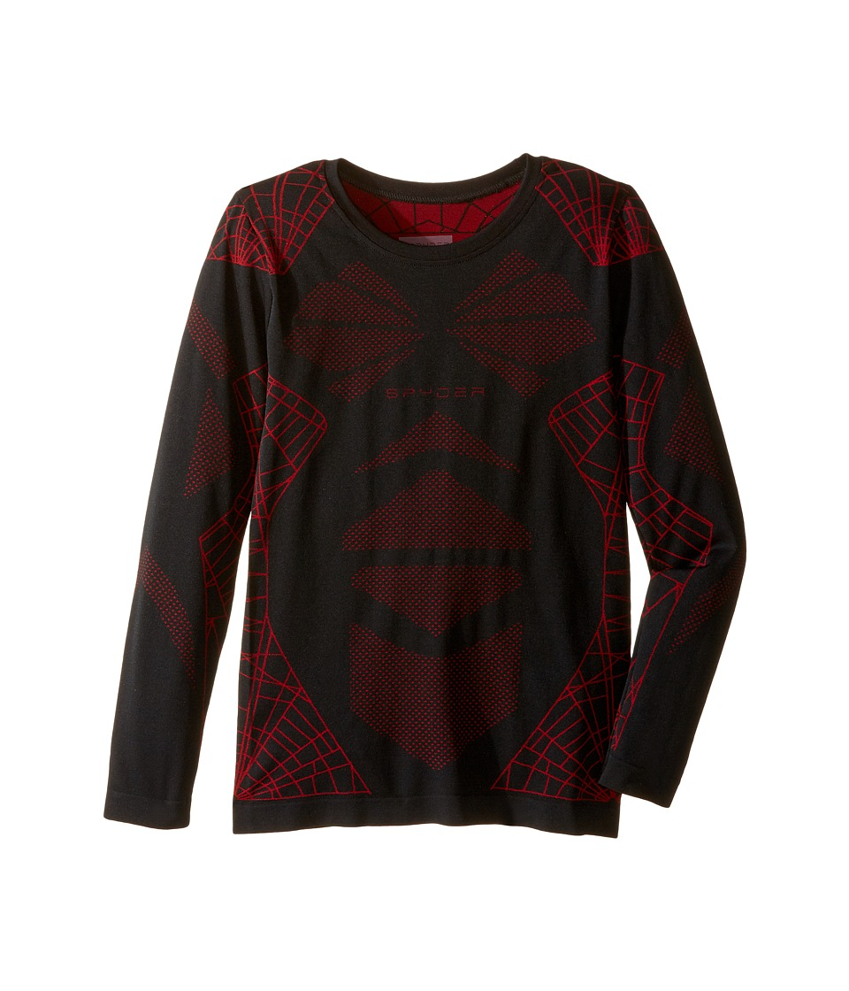 Spyder Kids - Racer Top (Big Kids) (Black/Red) Boy's Long Sleeve Pullover