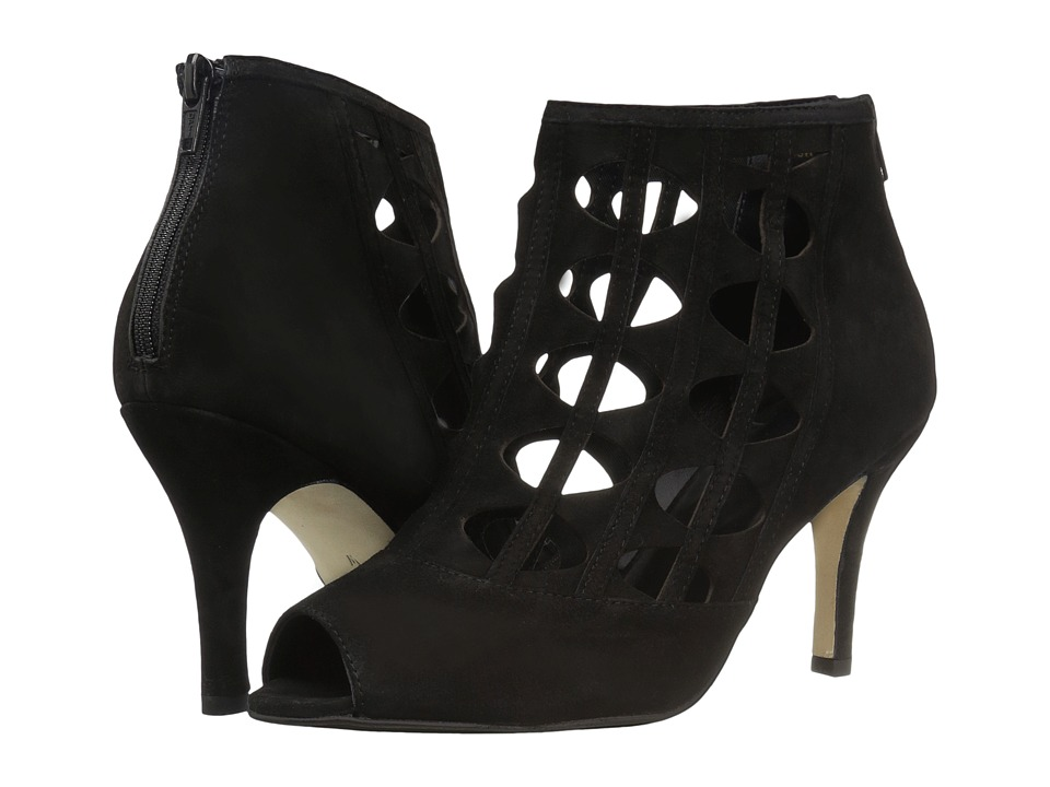 Vaneli Petal (Black Suede) High Heels