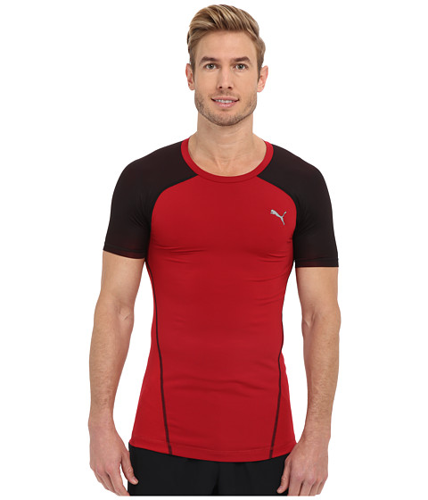 PUMA - Actv Pwr Shoulders Tee (Scooter) Men's Short Sleeve Pullover