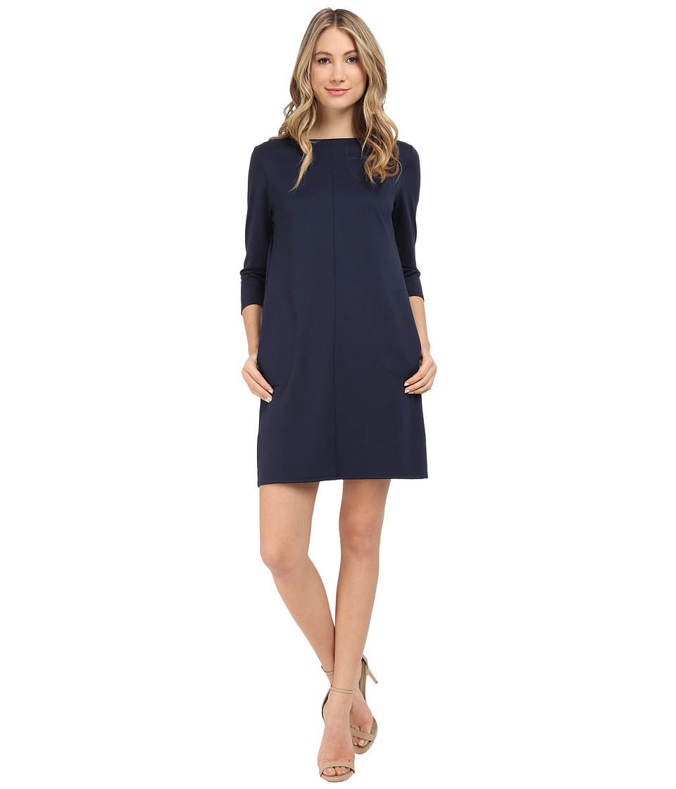 Brigitte Bailey - Calin 3/4 Sleeve Dress with Pockets (Navy) Women's Dress