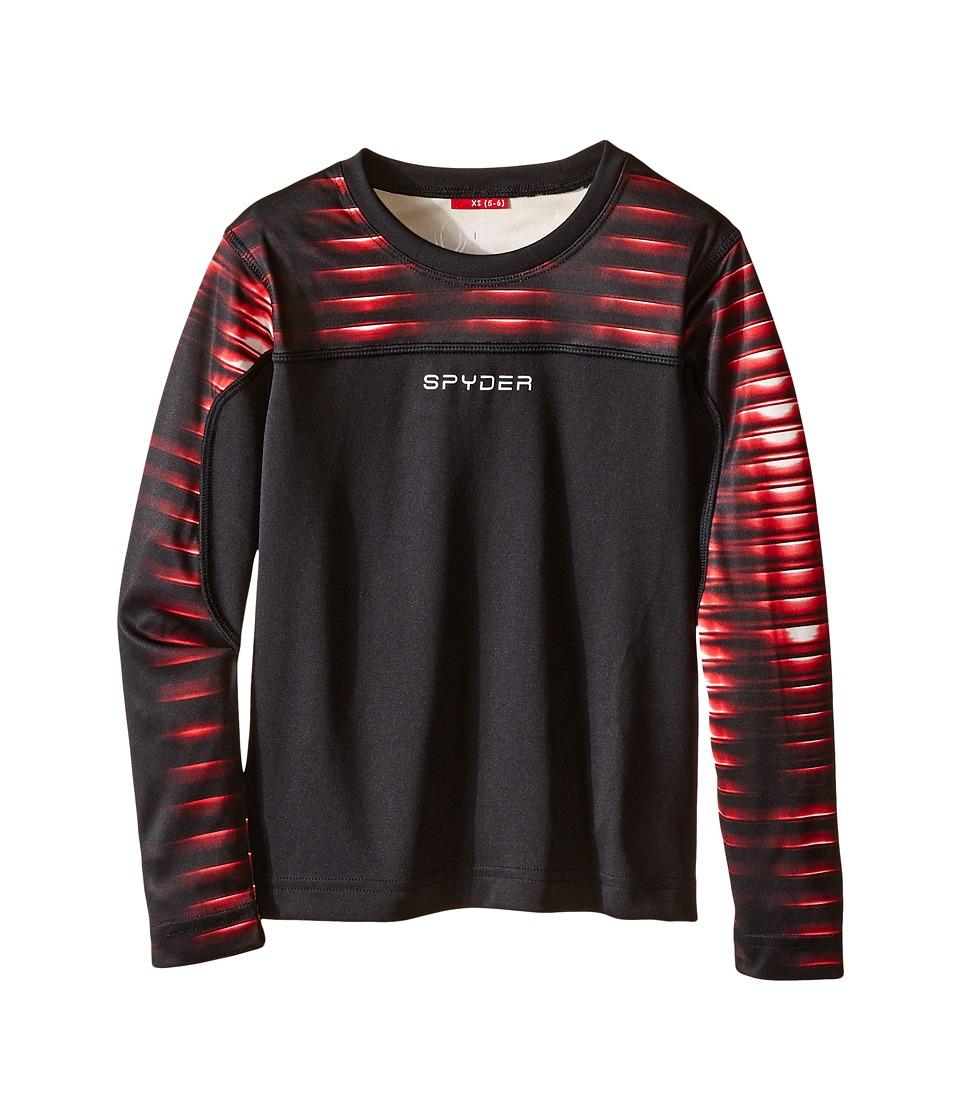 Spyder Kids - Havoc Long Sleeve Tech Tee (Little Kids/Big Kids) (Black/Space Armor Formula) Boy's Long Sleeve Pullover