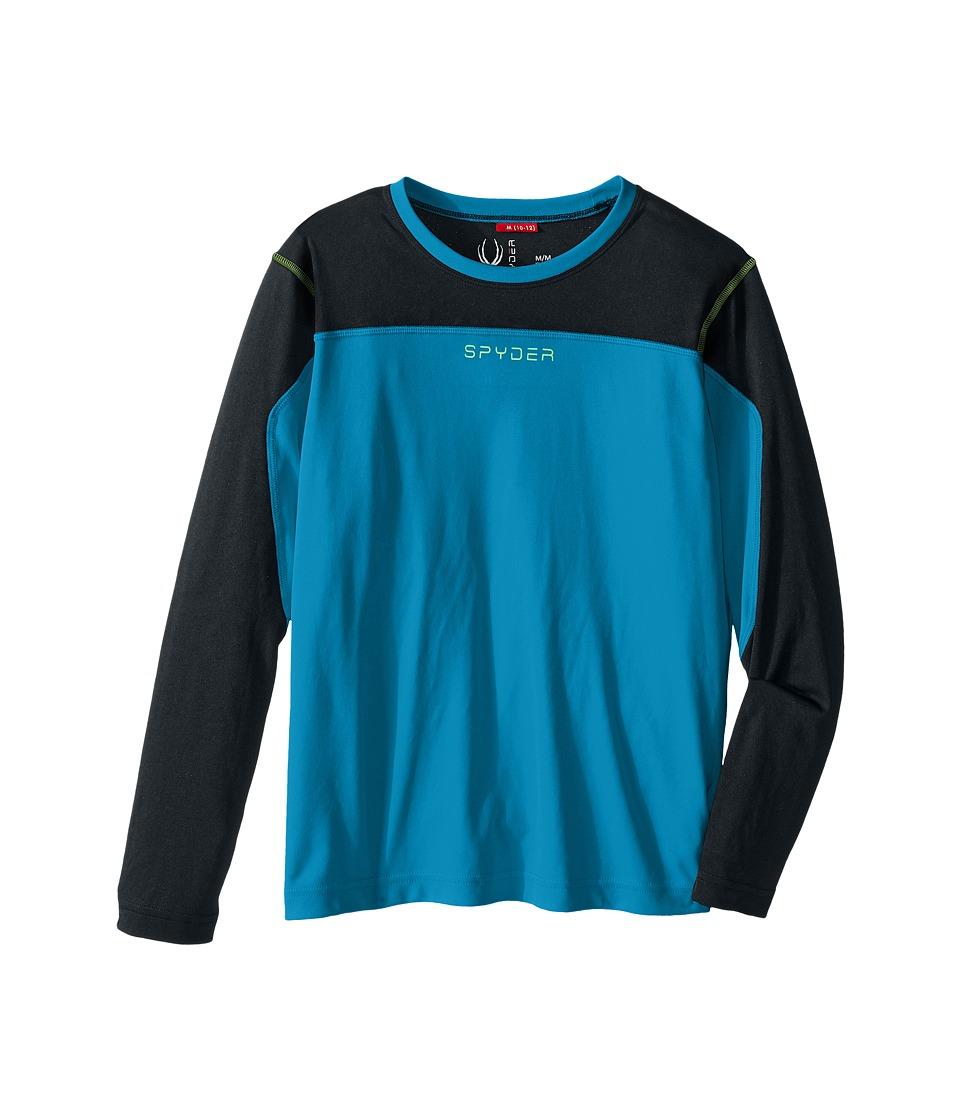 Spyder Kids - Havoc Long Sleeve Tech Tee (Little Kids/Big Kids) (Concept Blue/Black) Boy's Long Sleeve Pullover