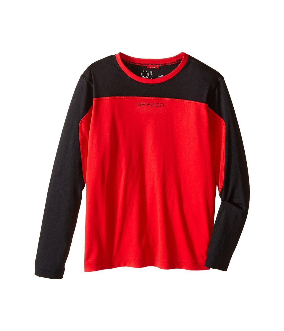 Spyder Kids - Havoc Long Sleeve Tech Tee (Little Kids/Big Kids) (Red/Black) Boy's Long Sleeve Pullover