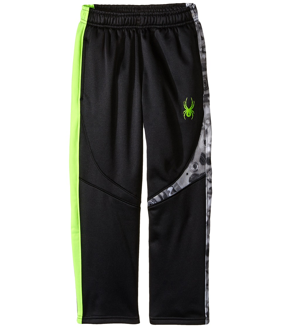 Spyder Kids - Ruckus Fleece Pants (Toddler/Little Kids/Big Kids) (Black/Bryte Green) Boy's Casual Pants