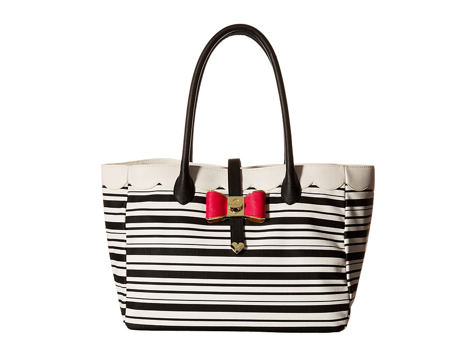 Betsey Johnson - Bag in Bag (Stripe) Satchel Handbags