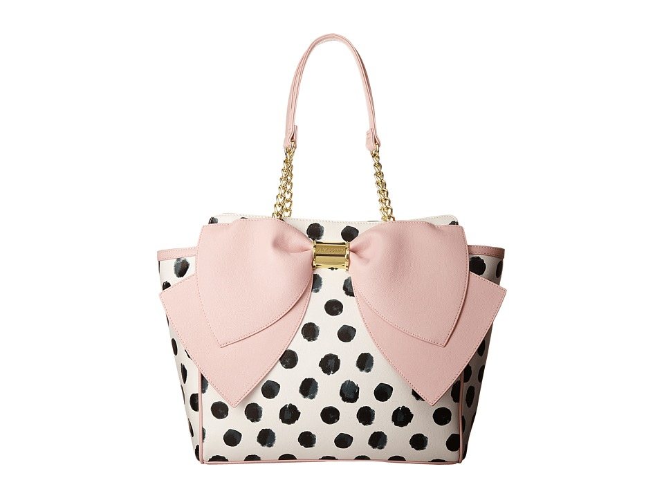 Betsey Johnson - Signature Bow Tote (Polka Dot) Tote Handbags