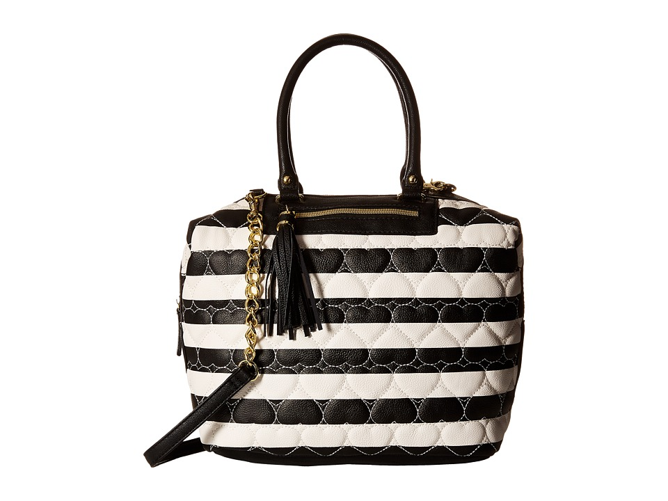 Betsey Johnson - Marshmellow Satchel (Stripe) Satchel Handbags
