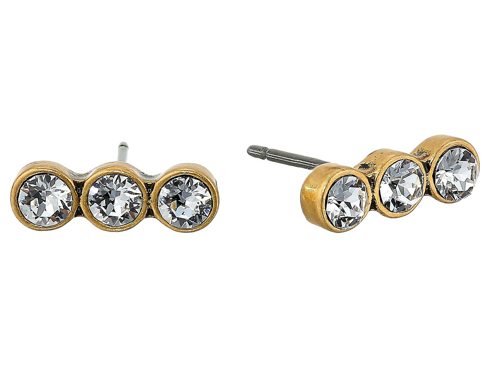 Marc Jacobs - Sparkle Crystal Dot Studs Earrings (Crystal/Antique Gold) Earring