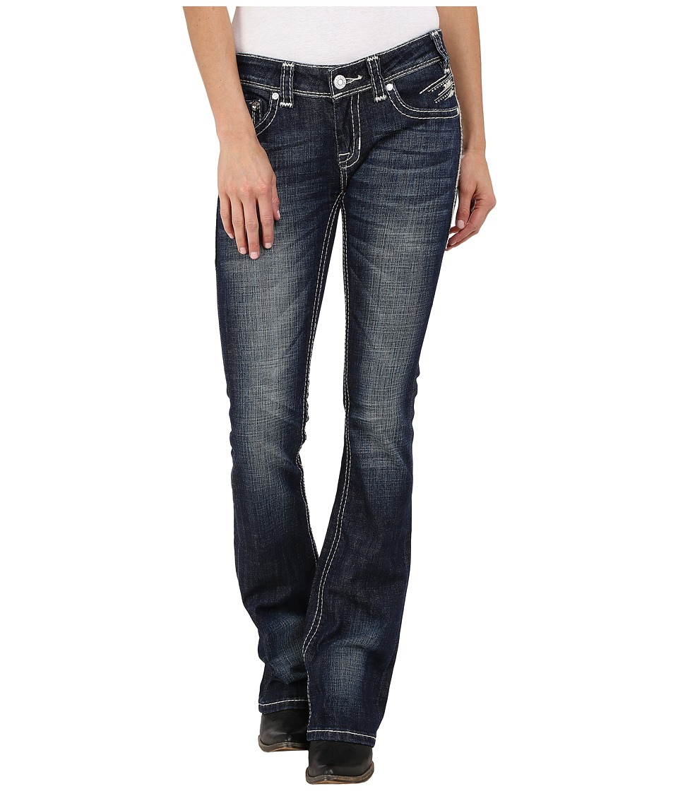Rock and Roll Cowgirl - Rival Bootcut in Dark Vintage W6-6445 (Dark Vintage) Women's Jeans