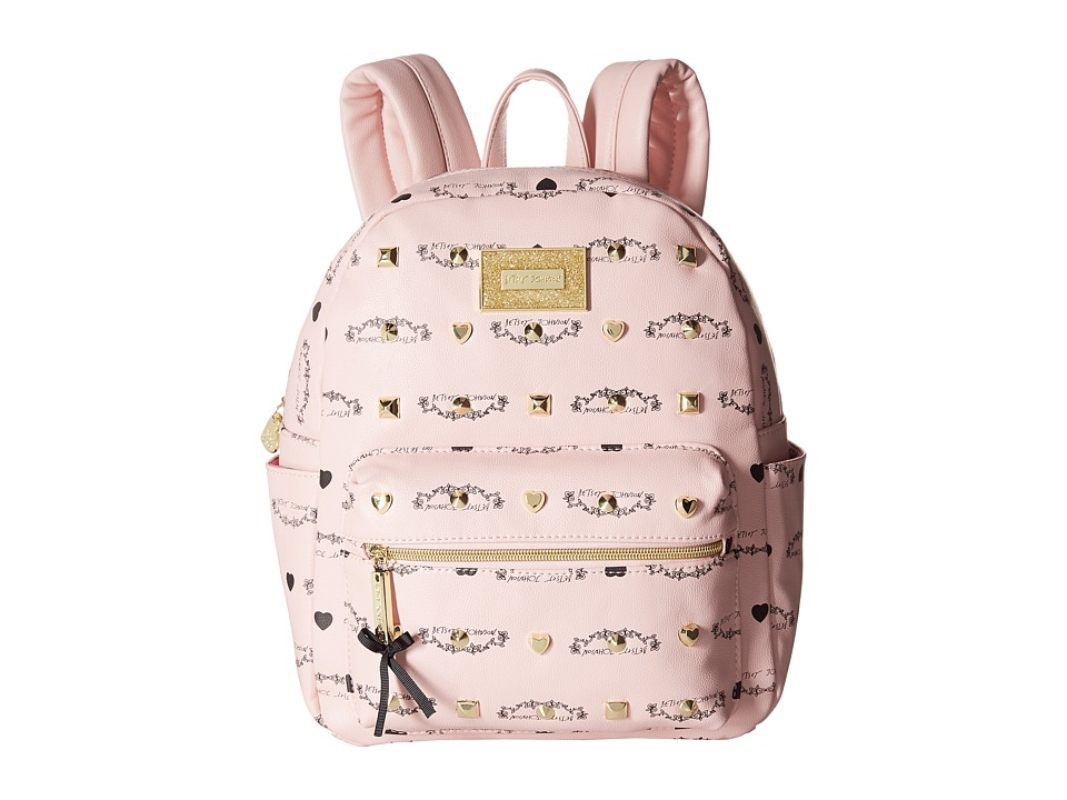 Betsey Johnson - Studded Signature Mini Backpack (Blush) Backpack Bags