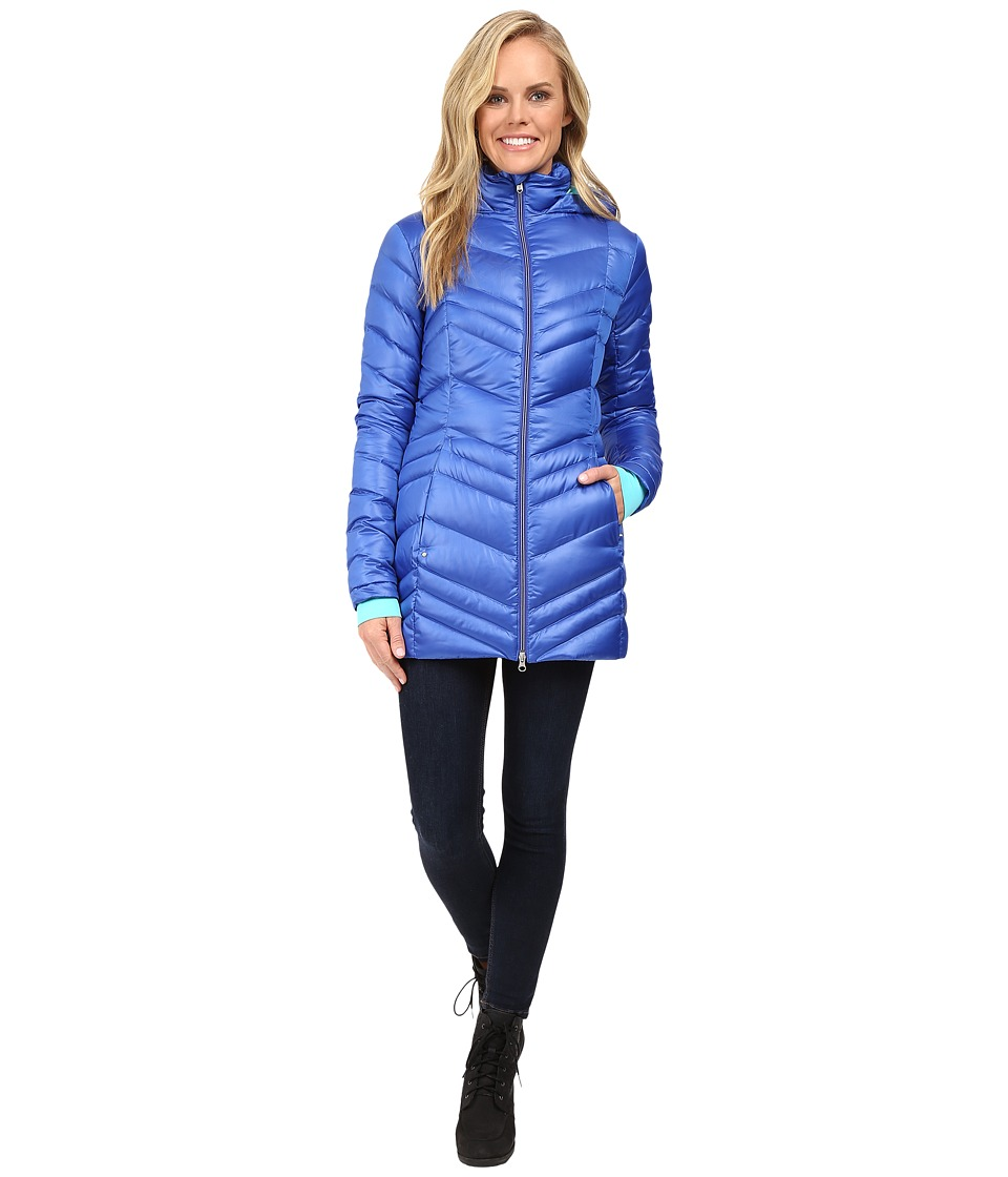 Spyder - Timeless Long Down Jacket (Bling/Freeze) Women's Coat