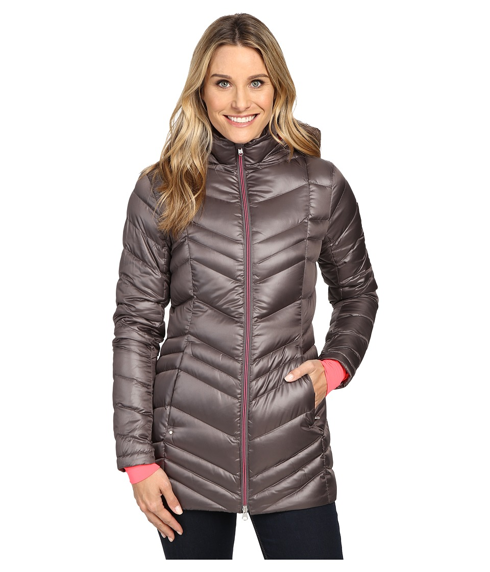 Spyder - Timeless Long Down Jacket (Weld/Bryte Pink) Women's Coat