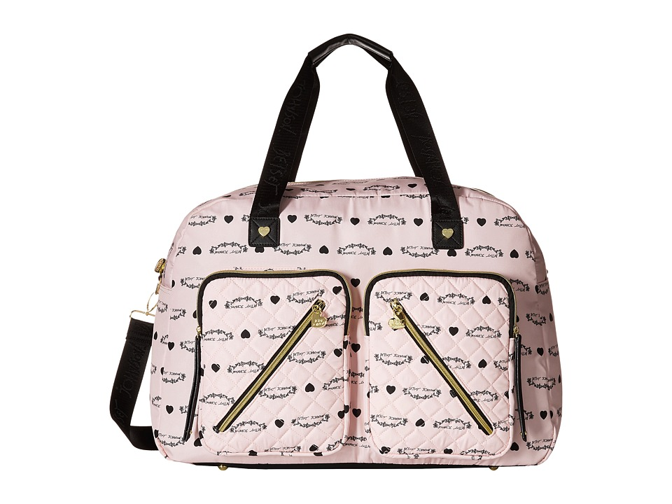 Betsey Johnson - Neverland Floral Cargo Weekender (Blush) Weekender/Overnight Luggage
