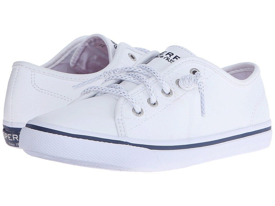 Sperry Kids - SP-Pier (Little Kid/Big Kid) (White Leather) Girl's Shoes