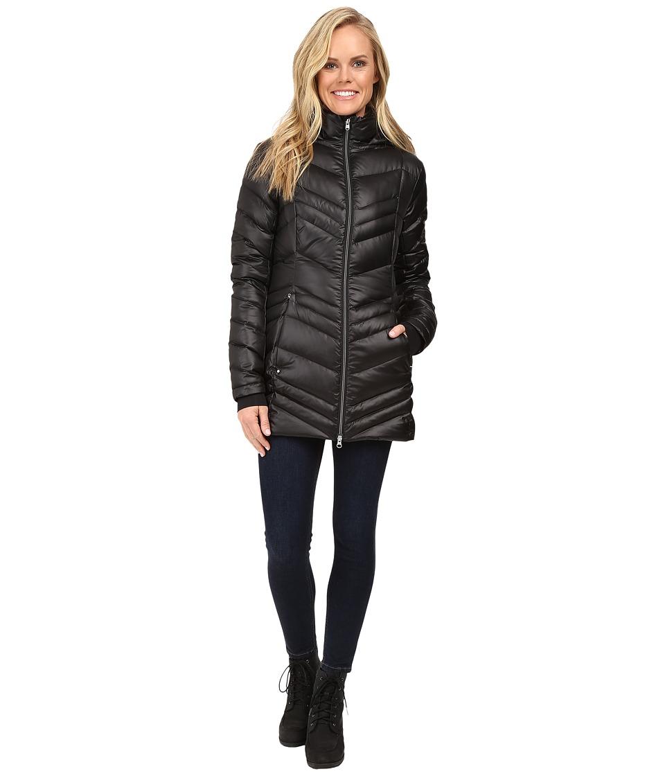 Spyder - Timeless Long Down Jacket (Black/Black 1) Women's Coat