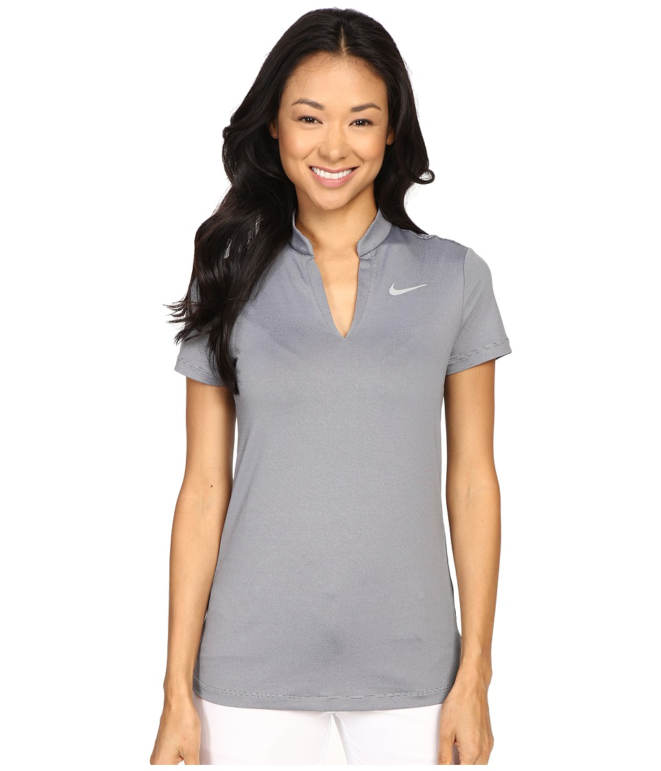 Nike Golf - Ace Swing Knit Polo (Wolf Grey/Black/Reflective Silver) Women's Short Sleeve Pullover