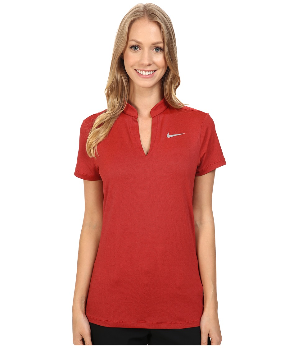 Nike Golf - Ace Swing Knit Polo (Light Crimson/Black/Reflective Silver) Women's Short Sleeve Pullover