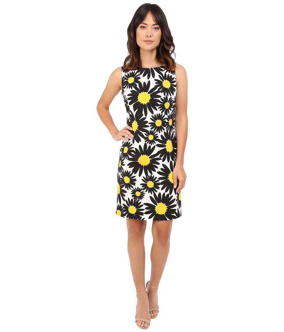 Christin Michaels - Kadi Daisey Sheath Dress (White/Black/Yellow) Women
