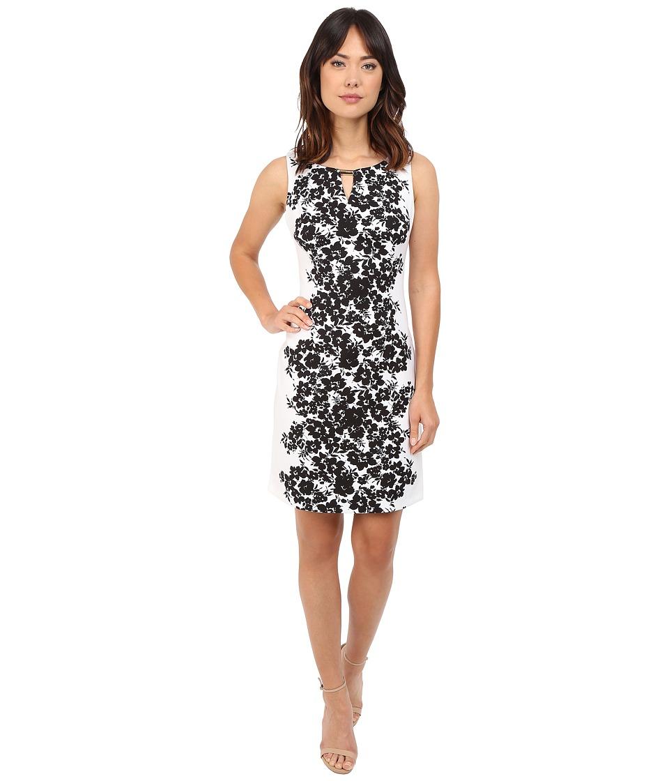 Christin Michaels Kacey Sheath Dress (White/Black) Women