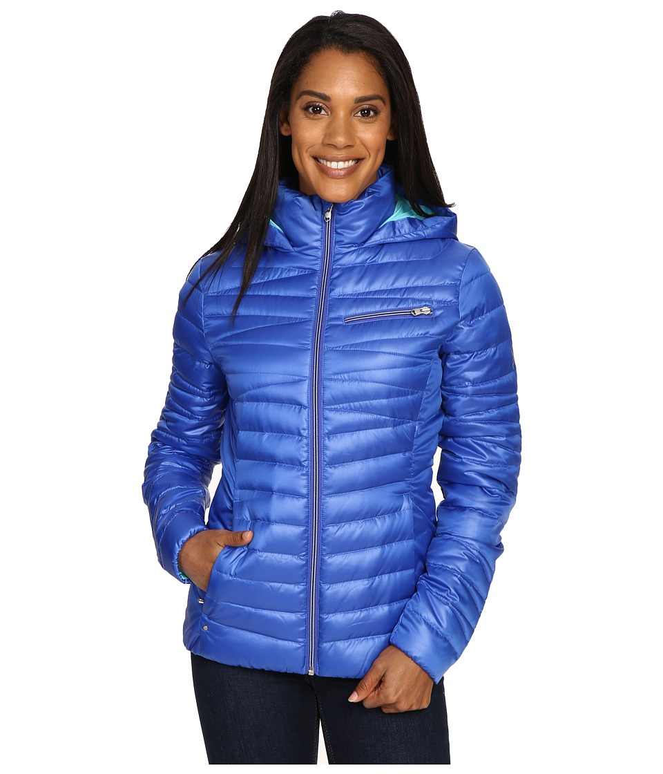 Spyder - Timeless Hoodie Down Jacket (Bling/Freeze) Women's Coat