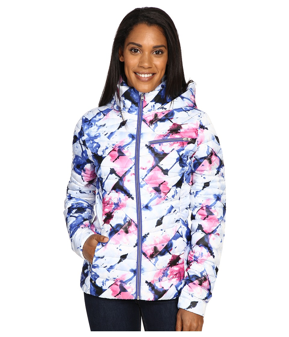 Spyder - Timeless Hoodie Down Jacket (Frozen Bling/Bling) Women's Coat