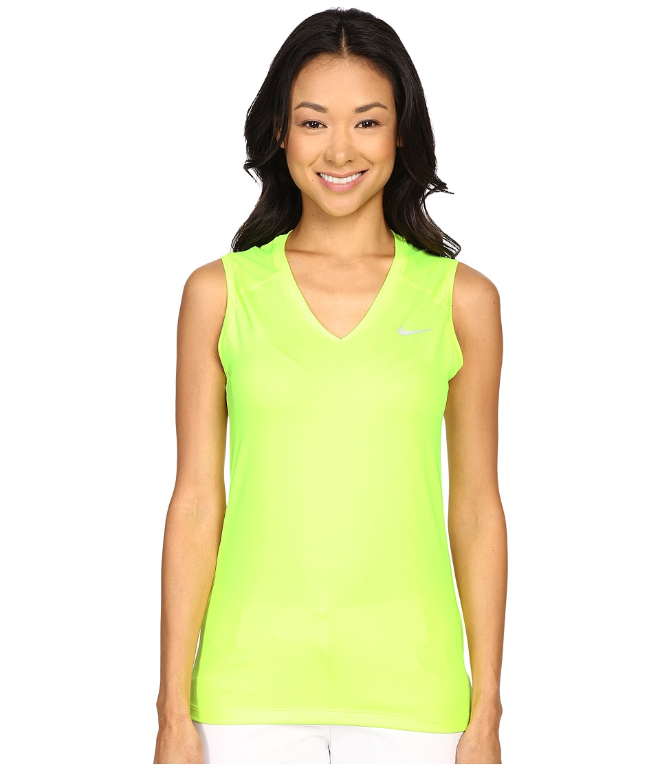 Nike Golf - Greens Sleeveless Top (Volt/Metallic Silver) Women's Sleeveless