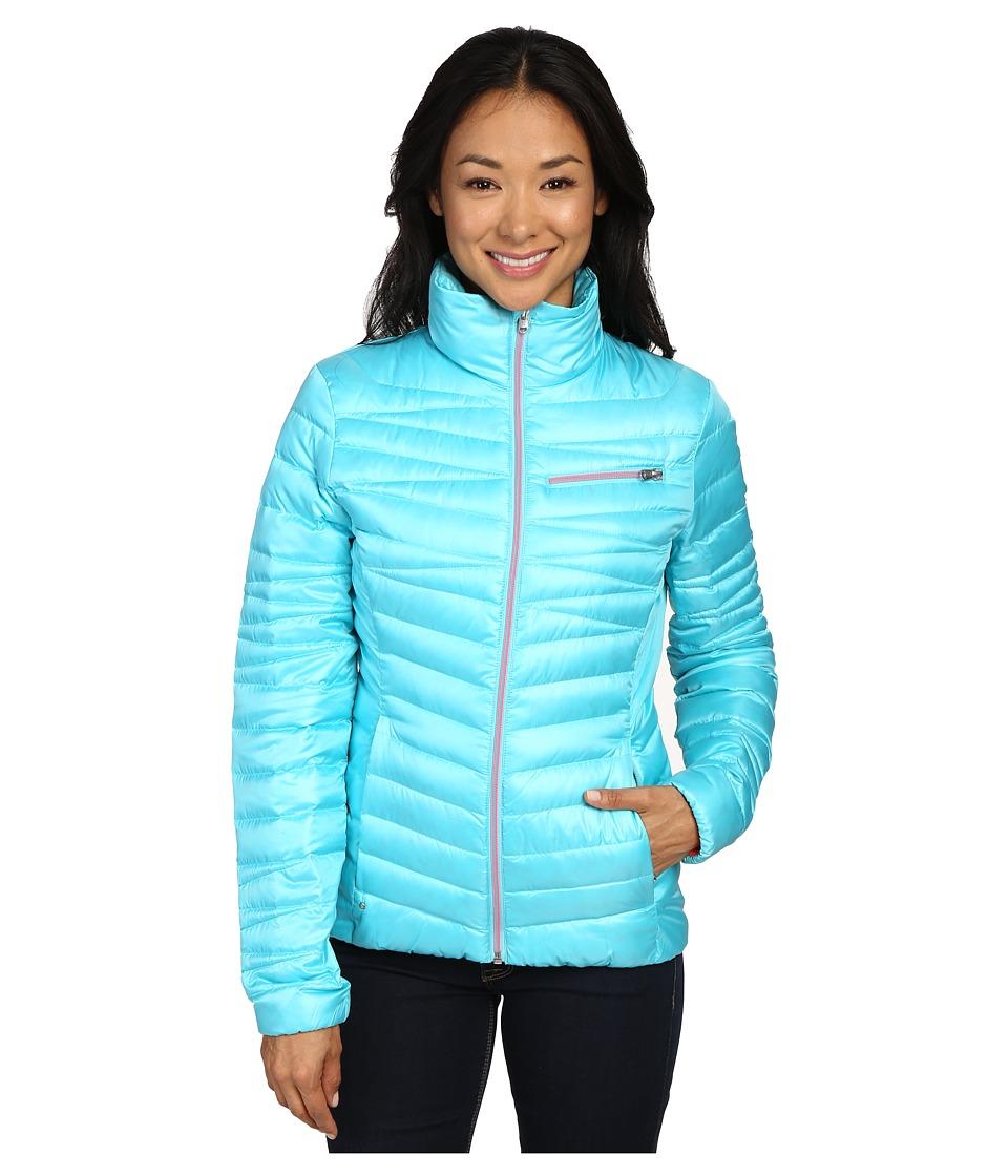 Spyder - Timeless Down Jacket (Freeze/Bryte Pink) Women's Coat