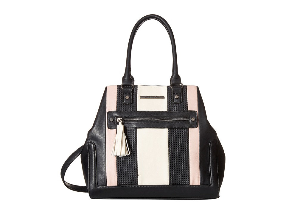 Steve Madden - Blovely2 (Black/Blush/Bone) Satchel Handbags