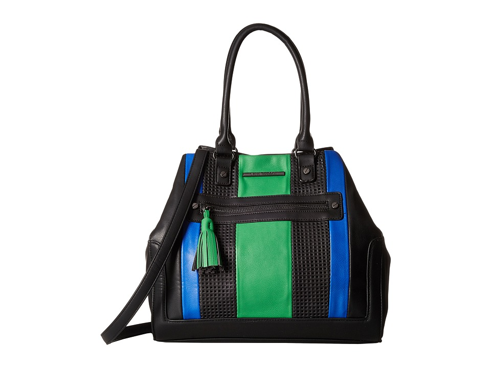 Steve Madden - Blovely2 (Black/Cobalt/Green) Satchel Handbags