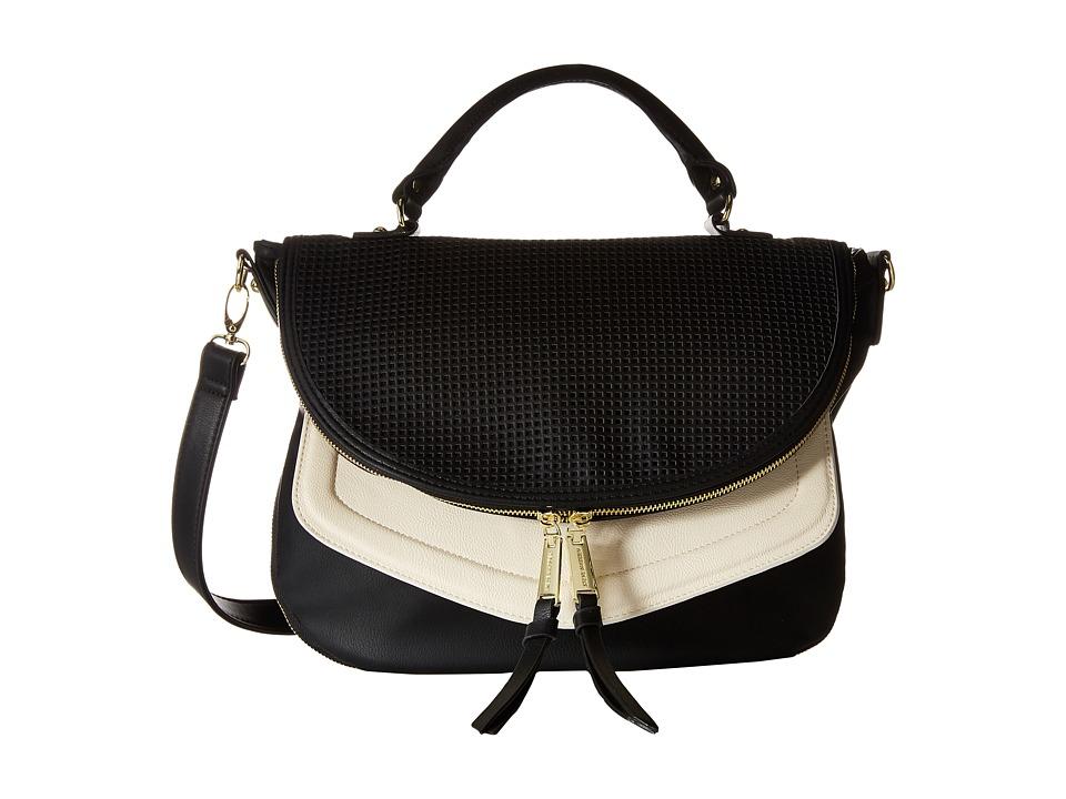 Steve Madden - Broxy Perf (Black/Black/Bone) Cross Body Handbags