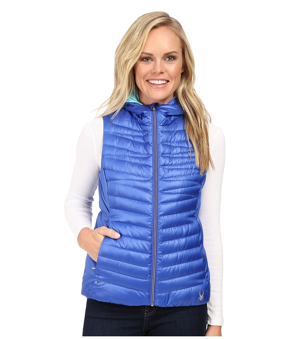 Spyder - Timeless Down Vest (Bling/Freeze) Women's Vest