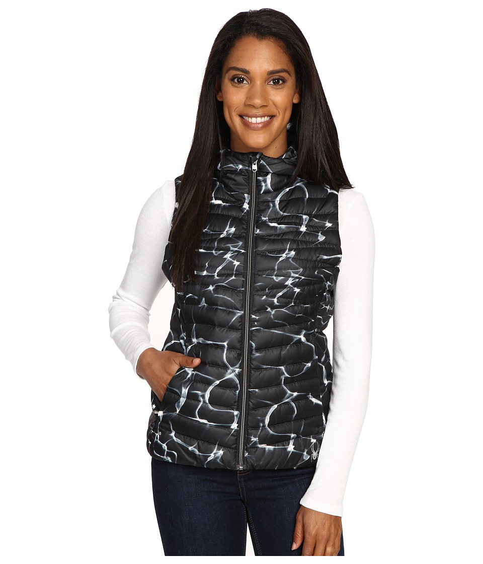 Spyder - Timeless Down Vest (Waves Black/Black) Women's Vest