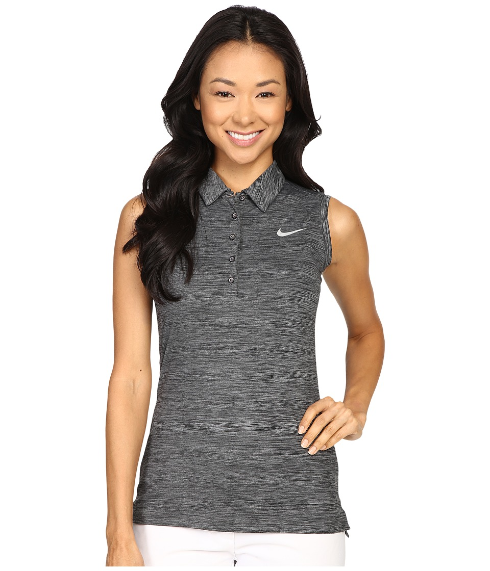 Nike Golf - Precision Sleeveless Heather Polo (Black/Metallic Silver) Women's Sleeveless