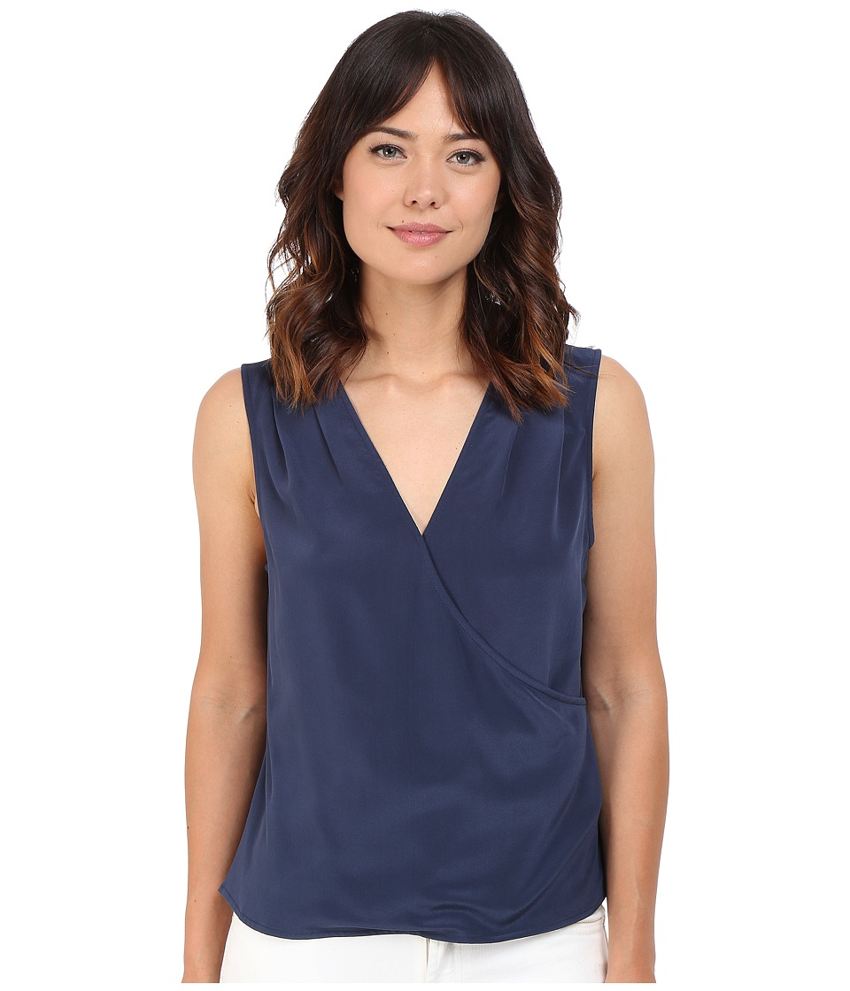 KEEPSAKE THE LABEL - Ornate Silk Top (Navy) Women's Sleeveless