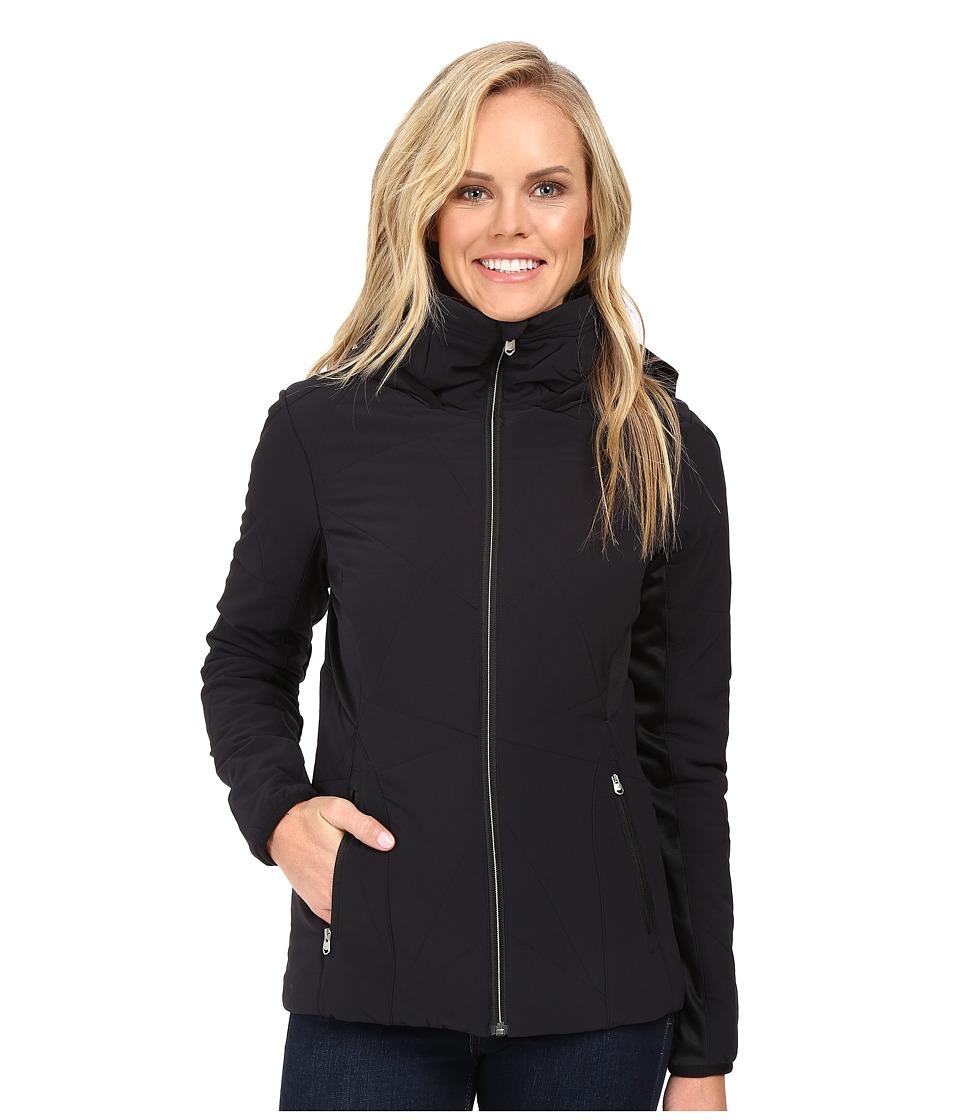 Spyder - Nynja Hoodie Insulator Jacket (Black/Silver) Women's Coat