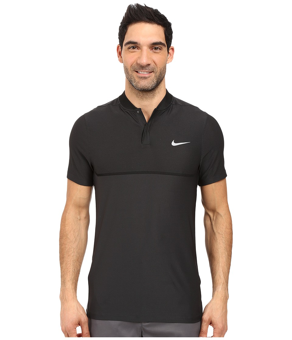 Nike Golf - Momentum Fly Swing Knit Block Alpha (Anthracite/Black/Reflective Silver) Men's Short Sleeve Pullover