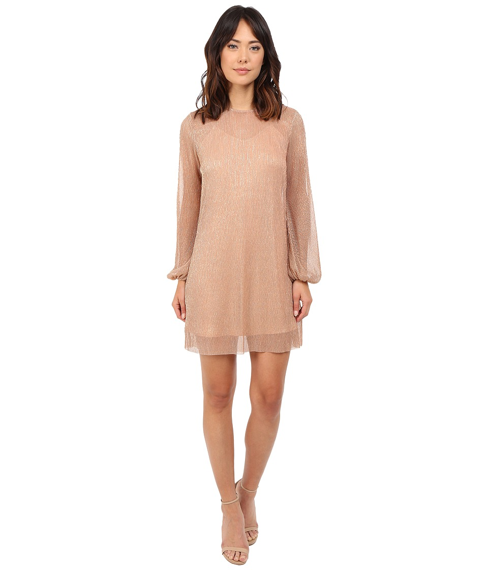 KEEPSAKE THE LABEL Fading Out Long Sleeve Mini Dress (Bronze Lurex) Women