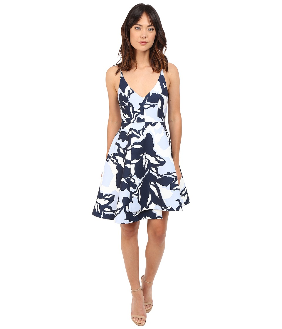 KEEPSAKE THE LABEL - No Secrets Dress (Navy Camouflage Floral) Women's Dress