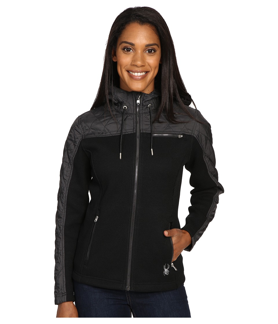 Spyder - Ardour Mid Weight Core Sweater Insulated Jacket (Black/Black Multi Fabric) Women's Coat